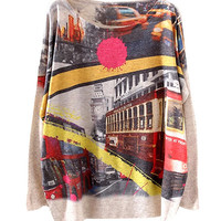 Nude Bus Scenery Print Sweater