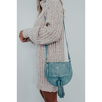 Wherever You Go Purse: Dusty Blue