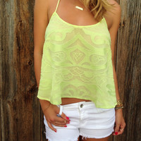 Juicy Fruit Beaded Top - FINAL SALE