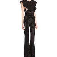 Hervé Léger - Wide Leg Jumpsuit with Ruffles