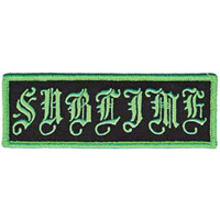 Sublime Men's Old English Logo Embroidered Patch Black
