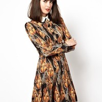 Nishe Dress In Violin Print