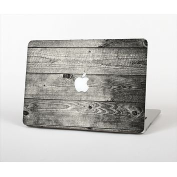 """The Dark Washed Wood Planks Skin Set for the Apple MacBook Pro 13"""" with Retina Display"""