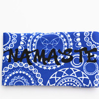 "Yoga Headband, ""Namaste"" , Tribal Hairband, Fitness headband, Workout Headband, Running Headband, Nonslip Women Headband Girl Hair Wrap YH09"