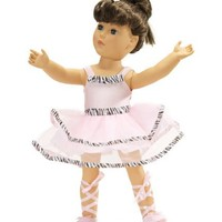 """Fits American Girl Ballet Outfit - 18 Inch Doll Clothes/clothing Includes 18"""" Shoes"""