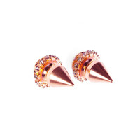 Courtney Lee Collection | Eve Rose Gold Spike Earrings