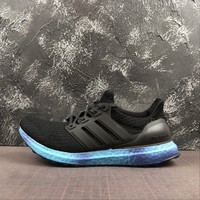 Adidas Ultra Boost Ub 4.0 Rainbow Sole Pack - Blue Running Shoes - Best Online Sale