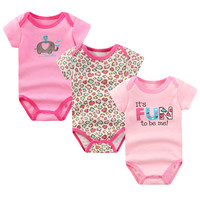 Baby Rompers Newborn Baby Clothing 100% Cotton Short Sleeve Next New born Baby Boy Girl Romper Jumpsuits Baby Clothes Set U-307