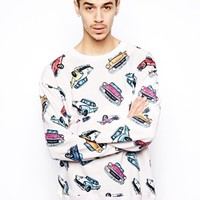 Joyrich Sweatshirt with Car Print
