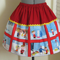 The Christmas Charlie Brown and Friends Panel Skirt - Limited Edition- Ready to ship