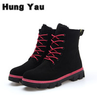 Fashion Warm Snow Boots calzado mujer Winter Boots Women sapato feminino Boots Women Ankle Boots Candy Color Platform Shoes