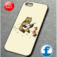 Bear & Fox  for iphone, ipod, samsung galaxy, HTC and Nexus PHONE CASE