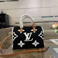 LV Louis Vuitton Women Shopping Leather Tote Crossbody Satchel Shoulder Bag Handbag