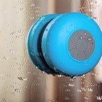 Abco Tech Waterproof Wireless Bluetooth Shower Speaker & Handsfree speakerphone - - Compatible with all Bluetooth Devices, iPhone 5 Siri and All Android devices (Blue):Amazon:Car Electronics