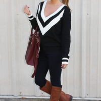 After Work Sweater: Black/Ivory