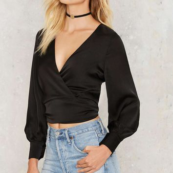Crops and Robbers Wrap Blouse