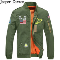 Hot Sale Mens Spring MA1 Pilot Bomber Jacket Thin