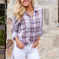 A Backroad Song Plaid Top