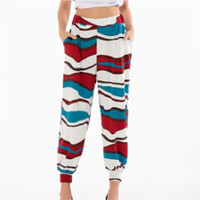Chiffion High Waist Stretch Women Harem Printed Pants 5 Styles Boho Loose Long Trousers Bloomers Pants