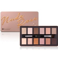 Nude Rose 12 Color Eyeshadow Palette   BH Cosmetics