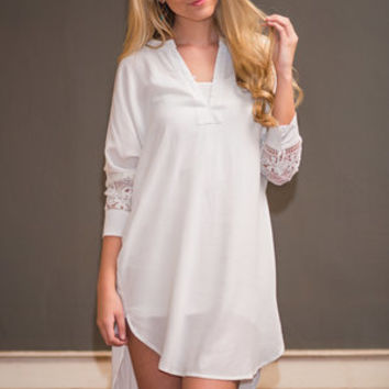 Simply Southern Tunic, White
