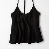 AEO Women's Don't Ask Why T-back Cami (Black)