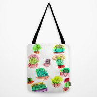 Colored Cactus Tote Bag by Yuval Ozery