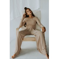Gia Wide Legged Set (Mocha)-
