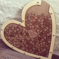 Creative Wedding Guest Book - Handmade Wooden Heart Dropbox