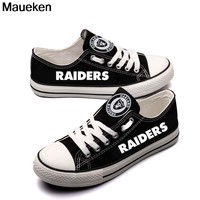Top Printed 2018 2019 men women unisex Raiders fashion diy Shoes for Oakland  fans gift size 35-44 0506-9