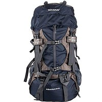 WASING 55L Internal Frame Backpack Hiking Travel Climbing Camping with Rain Cover Darkblue