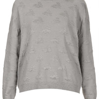 Knitted Quilted Bunny Sweater - Topshop USA
