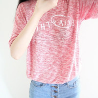 Red Letter Printed Short Sleeve Shirt