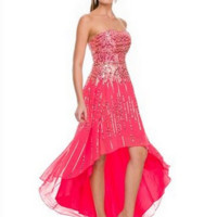 PRIMA Glitz GZ1540 Sequin High Low Homecoming - Prom Dress
