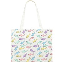 Shark Print Eco Canvas Tote