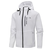 The North Face Casual Fashion Print Long Sleeve Hoodie Cardigan Windbreaker Thin Coat