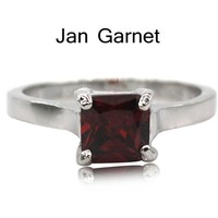 Silver Birthstone Cocktail Ring