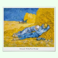 Resting after Work by Vincent Van Gogh Poster from Zazzle.com