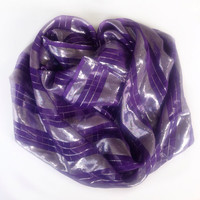 Ultra Violet color of the year 2018 Violet Purple scarf, Birthday Gift for coworker, Best Friend Gift, Wedding sparkly scarves for Mother