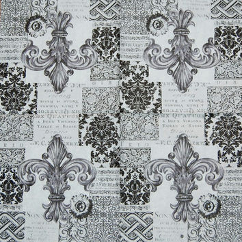 Decoupage Napkins - Black and Grey Design, 4 Different Paper Napkins for Decoupage, Collage, Scrapbooking and Paper Craft Projects