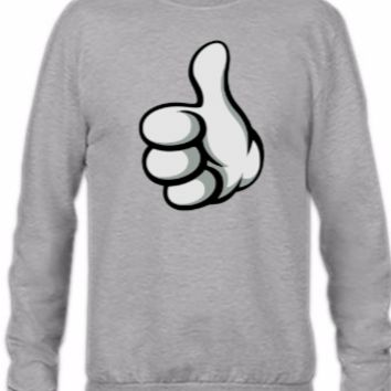 mickey hands thumbshup - Crewneck Sweatshirt