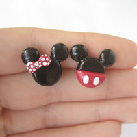 Mickey and Minnie Mouse Stud Earrings - Mickey Mouse - Stud Earrings - Disney Earrings - Cute Earrings - Posts