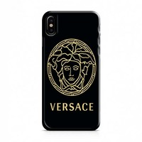 versace black and gold iPhone X Case