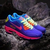 Best Online Sale Nike Air Max WMNS 90 GS Candy Purple Pink Blue Orange  Running Shoes Sport Shoes