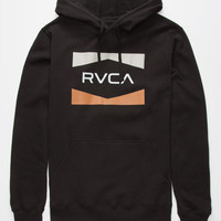 Rvca Nation Mens Hoodie Black  In Sizes
