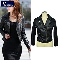 Vangull Faux Leather Jackets