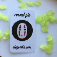 No Face Enamel Pin