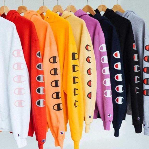 Image of Champion Long Sleeve Top Pullover Sweater Hoodies