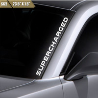 Supercharged Windshield Sticker Banner Vinyl Decal Bumper Sticker For Mustang GT