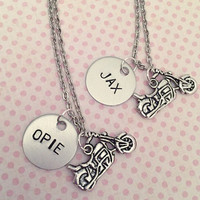 Jax & Opie Necklaces - Jax Teller and Opie Winston - Best Friend Necklaces - Sons of Anarchy Inspired Jewelry - Samcro Jewelry